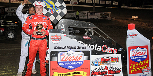 Bell Rallies from Tenth to Win POWRi Opener at Port City!