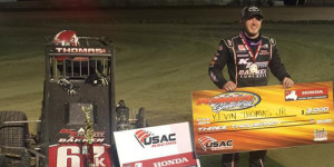 Thomas Takes First USAC Midget Win at Plymouth
