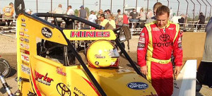 Hines Breaks Collarbone in Midget Week Action