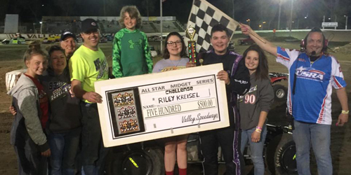Kreisel Claims All Star Midget Win at Valley