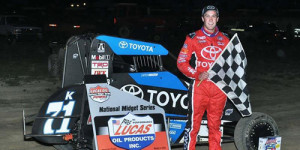 Macedo Flies at Fayette County for First Midget Win