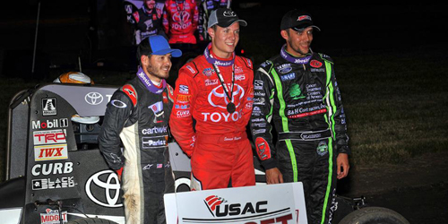 Bayston Takes Midget Week Round Two for First USAC Score