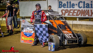 Thorson Tops POWRi Midget Week Opener
