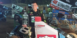 Klaasmeyer the Class of POWRi West at I-30 Speedway