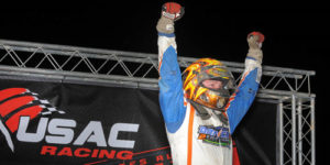 Courtney Claims Midget Week Opener!