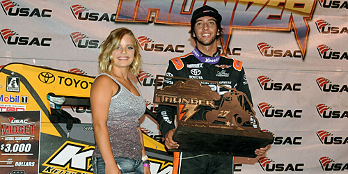 Thorson Thorough for Tuesday Night Thunder USAC Midget Win