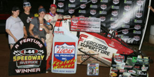 Beason Bests POWRi West Midget at I-44 Riverside Speedway Again