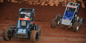 "USAC Midgets ""Tuesday Night Thunder"" at Red Dirt Raceway on July 9!"
