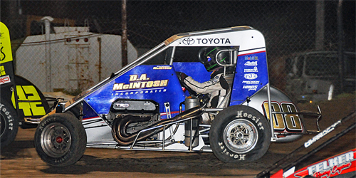 McIntosh Doing the Double Saturday at Lucas Oil Speedway after Podium Run at Creek County