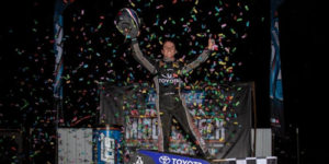 Seavey Soars to Victory Lane in Indiana Midget Week Opener
