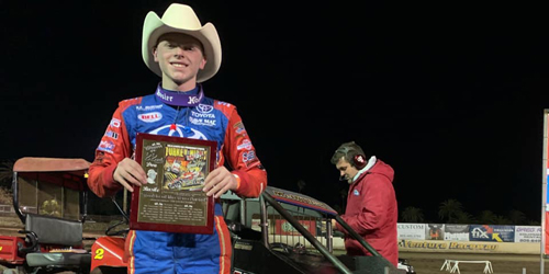 Cannon McIntosh Finishes Off Western Swing with Runner-Up Turkey Night Grand Prix Finish